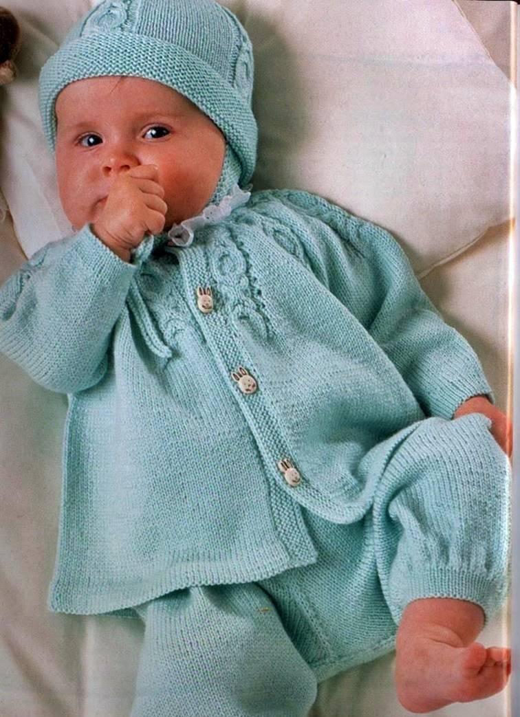 вязание спицами для начинающих кофточка для малыша способ вязания